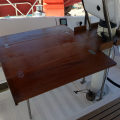 Beneteau First 45F5- cockpit table full